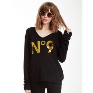 Wildfox white label N.9 glitter sweater S
